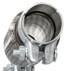 Flexrohr Edelstahl 40 x 100 mm mit Schellen