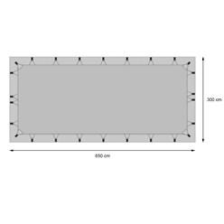 Dachschutzplane Wohnwagen / Wohnmobil 6,5x3m