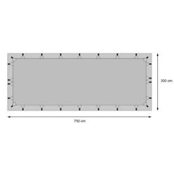 Dachschutzplane Wohnwagen / Wohnmobil 7,5x3m