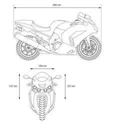 Motorradgarage Größe XXL 295 x 104 x 127 cm aus Polyester