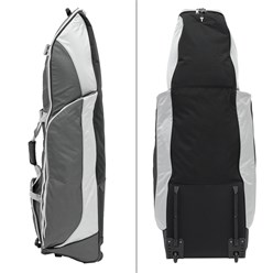 Fast Fold Golftasche schwarz/silber, 137x50x40 cm, aus Polyester