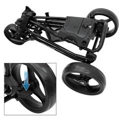 FastFold Comp 6000 Golfwagen schwarz, 95x30x132 cm, aus Stahl und Kunststoff
