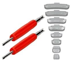400 x Schlaggewichte Stahlfelgen Sortiment 5-40g