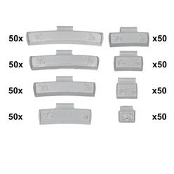 400 x Schlaggewichte Alufelgen Sortiment 5-40g
