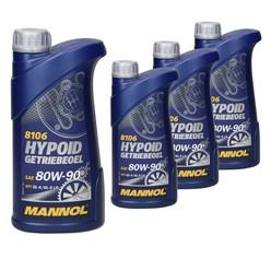 Mannol Hypoid Getriebeöl 80W-90 1 L 4 Stk