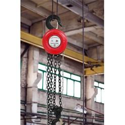 Flaschenzug 2000 kg, 2,5 m, aus Stahl mit Blockiersystem, 360° drehbar, inkl. Kette