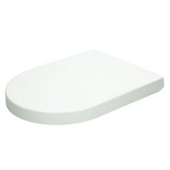 Premium Duroplast Toilettendeckel D-Form, weiß, mit Soft-Close inkl. Befestigungsmaterial