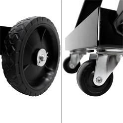 Mobiler Schweißwagen mit 3 Regale, aus Metall, Belastbarkeit bis 45 kg