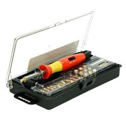 Kit de pyrogravure bois cuir stylo pyrograveur + têtes de rechange et coffret