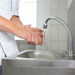 Handwaschbecken 34x40x56.5 cm, aus V2A Edelstahl, Inkl. Wasserhahn Wandhalterung und Seifenspender
