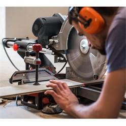 Profi Kappsäge mit Laser, 1600 W, 305 mm HV-Sägeblatt, Drehzahl 3800 min-1, Gehrungswinkel 45° links bis -45° rechts