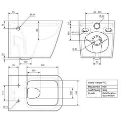 Toilette Eckig Spülrandlöse Keramik Weiß Soft-Close