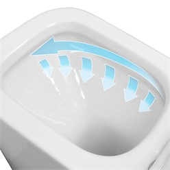 Toilette Eckig Spülrandlos Weiß 550 x 360 x 310 mm