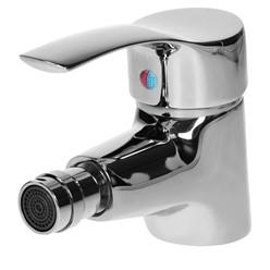 Wasserhahn für Bidet 125x50x135 mm mit Ablaufgarnitur Silber