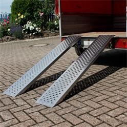2er Set Auffarhrampe 149 cm, aus Aluminium, Rutschfeste Oberfläche, für Fahrrad, Motorrad