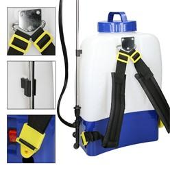 Akku Rückenspritze 18L mit 12V Li-Akku 3 Düsenvorsätzen