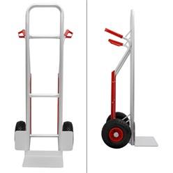 """Sackkarre mit Treppenrutsche, belastbar bis 150 kg, aus Aluminium, PU Kunststoff Griff, 3.00-4"""" Gummi-Luft-Rädern"""