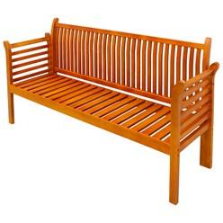 Gartenbank 3 Sitzer 159x49.5x90.5 cm Braun aus Kiefer mit Creme Kissen