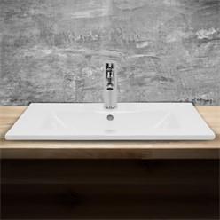 Waschbecken 610x465x175 mm, Weiß, aus Keramik