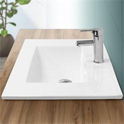 Waschbecken 710x465x175 mm, Weiß, aus Keramik