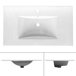 Waschbecken 810x465x175 mm Weiß aus Keramik