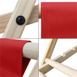 Liegestuhl klappbar aus Holz 3 Liegepositionen bis 120 kg Rot