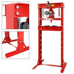 Werkstattpresse 20T, mit Manometer, höhenverstellbar 80-1100 mm, aus Stahl