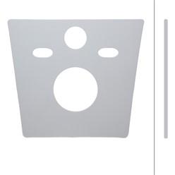 Schallschutz für Wand-WC 365x320mm aus Elastischer PE-Schaum Grau