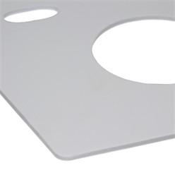 Schallschutz für runden Wand-WC 360x320 mm aus Elastischer PE-Schaum Grau