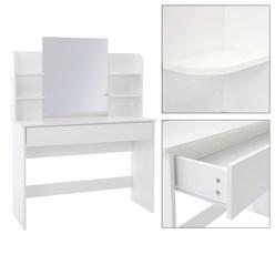 Moderner Schminktisch, Weiß, 180x40x140 cm