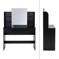 Moderner Schminktisch, Schwarz, 180x40x140 cm