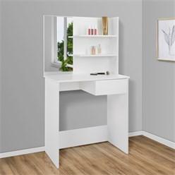 Moderner Schminktisch, Weiß, 75x40x135 cm