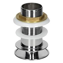 Universal Ablaufgarnitur für Waschbecken, ohne Überlauf, aus Messing
