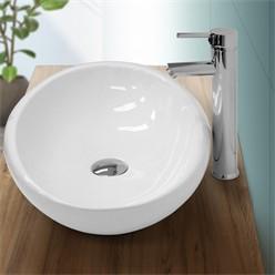 washbasin 585x375x145 mm ceramic oval white