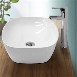 Washbasin 505x385x135 mm Oval ceramic White