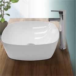 Washbasin 405x405x140mm round ceramic white
