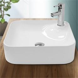 Washbasin 435 x 435 x 125 mm Square ceramic White