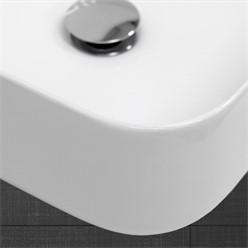 Waschbecken Quadratischform 435x435x125 mm, Weiß, aus Keramik