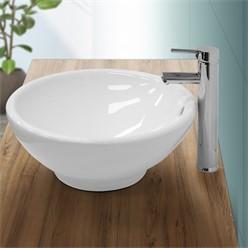 Wash basin 420 x 420 x 170 mm ceramic round white