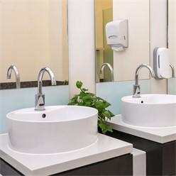 Waschbecken Rundform 460x460x155 mm, Weiß, aus Keramik