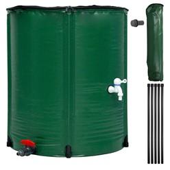 Regentonne faltbar 200 L mit Hahn 60x70 cm aus PVC Grün