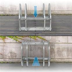 Fahrradständer für 2 Fahrräder 43 x 32 x 27 cm, aus verzinktem Stahl, inkl. Montagematerial