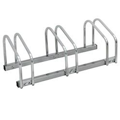 Fahrradständer für 3 Fahrräder 71 x 32 x 27 cm, aus verzinktem Stahl, inkl. Montagematerial