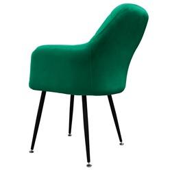 2er Set Esszimmerstuhl, Dunkelgrün, mit Rücken- und Armlehnen