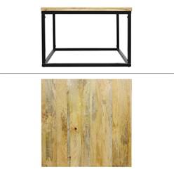 Couchtisch Mangoholz mit Stahlrahmen 70 x 70 x 48 cm