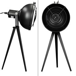 Tischlampe 1 flammig E27 Schwarz mit LED Lampe 4W