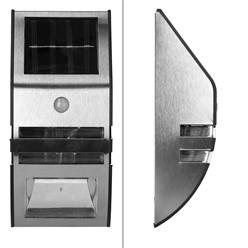 LED-Solarwandleuchte Edelstahl mit Sensor