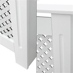 Heizkörperverkleidung mit Wabenmuster 78x19x82 cm Weiß aus MDF lackiert