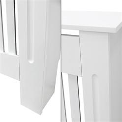 Heizkörperverkleidung Landhausstil 112x19x82 cm Weiß aus MDF lackiert