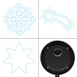 LED-Motivstrahler für Innen und Außen 3 Stück